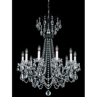 Schonbek Lucia 10 Light Chandelier in Heirloom Bronze and Clear Heritage Handcut Trim LU0003N-76H