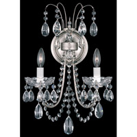 Schonbek Lucia 2 Light Wall Sconce in Antique Silver and Clear Heritage Handcut Trim LU0004N-48H