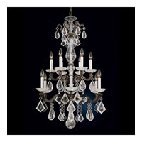 Schonbek La Scala Rock Crystal 12 Light Pendant in Ancient Bronze and Rock Crystal 5409-65
