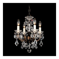 Schonbek La Scala 4 Light Chandelier in Heirloom Bronze and Clear Optic Handcut Trim 5004-76O