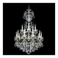 Schonbek La Scala 15 Light Chandelier in Bronze Umber and Clear Optic Handcut Trim 5010-75O