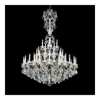 Schonbek La Scala 25 Light Chandelier in Heirloom Bronze and Clear Heritage Handcut Trim 5012-76
