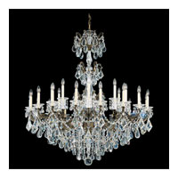 Schonbek La Scala 24 Light Chandelier in Bronze Umber and Clear Heritage Handcut Trim 5013-75