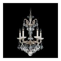 Schonbek La Scala Rock Crystal 5 Light Chandelier in Antique Silver and Clear Rock Crystal Trim 5405-48
