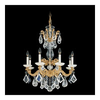 Schonbek La Scala Rock Crystal 8 Light Chandelier in Parchment Gold and Clear Rock Crystal Trim 5407-27