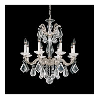 Schonbek La Scala Rock Crystal 8 Light Chandelier in Antique Silver and Clear Rock Crystal Trim 5473-48