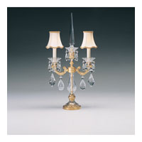 Schonbek La Scala 2 Light Table Lamp in Heirloom Gold and Clear Heritage Handcut Trim 70062N-22