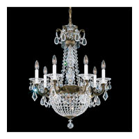 Schonbek La Scala Empire 9 Light Chandelier in Bronze Umber and Silver Shade Swarovski Elements Colors Trim 5077-75SH