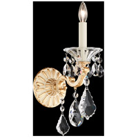 Schonbek 5000-27A La Scala 1 Light 9 inch Parchment Gold Wall Sconce Wall Light in Clear Spectra