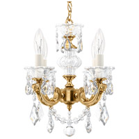 Schonbek 5004-22 Lascala 4 Light 13 inch Heirloom Gold Chandelier Ceiling Light in Cast Heirloom Gold La Scala Heritage