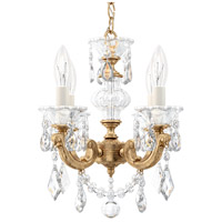 Schonbek La Scala 4 Light 13 inch French Gold Chandelier Ceiling Light in Clear Heritage