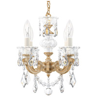 Schonbek 5004-27 Lascala 4 Light 13 inch Parchment Gold Chandelier Ceiling Light in Cast Parchment Gold La Scala Heritage