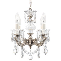 Schonbek 5004-48 Lascala 4 Light 13 inch Antique Silver Chandelier Ceiling Light in Cast Antique Silver La Scala Heritage