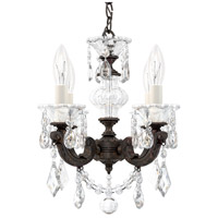 Schonbek 5004-83 LaScala 4 Light Florentine Bronze Chandelier Ceiling Light in Cast Florentine Bronze, La Scala Heritage