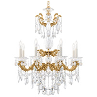 Schonbek 5007-22 Lascala 8 Light 25 inch Heirloom Gold Chandelier Ceiling Light in Cast Heirloom Gold La Scala Heritage