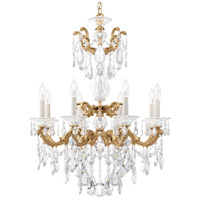 Schonbek 5007-26 Lascala 8 Light 25 inch French Gold Chandelier Ceiling Light in Cast French Gold La Scala Heritage