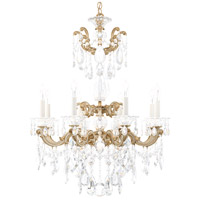 Schonbek 5007-86 LaScala 8 Light Midnight Gild Chandelier Ceiling Light in Cast Midnight Gild, La Scala Heritage
