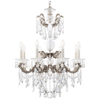 Schonbek 5007-48 Lascala 8 Light 25 inch Antique Silver Chandelier Ceiling Light in Cast Antique Silver La Scala Heritage