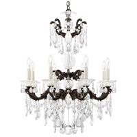 Schonbek 5007-80 LaScala 8 Light Roman Silver Chandelier Ceiling Light in Cast Roman Silver, La Scala Heritage