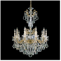 Schonbek 5008-80 LaScala 10 Light Roman Silver Chandelier Ceiling Light in Cast Roman Silver, La Scala Heritage