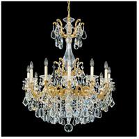 Schonbek La Scala 12 Light 33 inch Heirloom Gold Chandelier Ceiling Light in Clear Heritage