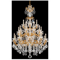 Schonbek 5012-26A LaScala 25 Light French Gold Chandelier Ceiling Light in Clear Spectra Cast French Gold