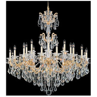 La Scala 24 Light 46 inch Parchment Gold Chandelier Ceiling Light in Clear Heritage