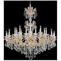 Schonbek La Scala 24 Light 46 inch Parchment Gold Chandelier Ceiling Light in Clear Heritage