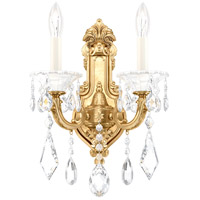 Schonbek 5070-22 Lascala 2 Light 7 inch Heirloom Gold Wall Sconce Wall Light in Cast Heirloom Gold La Scala Heritage