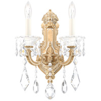 Schonbek 5070-27 Lascala 2 Light 7 inch Parchment Gold Wall Sconce Wall Light in Cast Parchment Gold La Scala Heritage