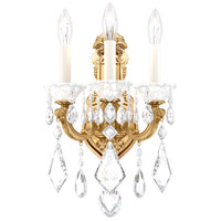 Schonbek 5071-22 Lascala 3 Light 8 inch Heirloom Gold Wall Sconce Wall Light in Cast Heirloom Gold, La Scala Heritage