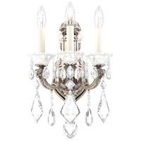 Schonbek 5071-48 Lascala 3 Light 8 inch Antique Silver Wall Sconce Wall Light in Cast Antique Silver La Scala Heritage