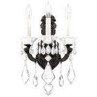 Schonbek 5071-80 LaScala 3 Light 8 inch Roman Silver Wall Sconce Wall Light in Clear Heritage, Cast Roman Silver