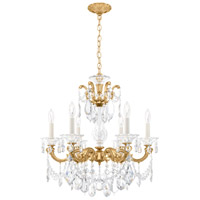 Schonbek 5072-22 La Scala 6 Light 23 inch Heirloom Gold Chandelier Ceiling Light in Clear Heritage alternative photo thumbnail