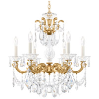 Schonbek La Scala 6 Light 23 inch Heirloom Gold Chandelier Ceiling Light in Clear Heritage