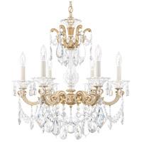 Schonbek La Scala 6 Light 23 inch Parchment Gold Chandelier Ceiling Light in Clear Heritage