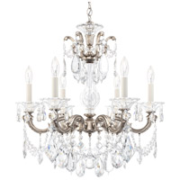 Schonbek 5072-48 Lascala 6 Light 23 inch Antique Silver Chandelier Ceiling Light in Cast Antique Silver La Scala Heritage