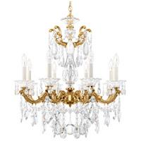 Schonbek La Scala 8 Light 25 inch Heirloom Gold Chandelier Ceiling Light in Clear Heritage