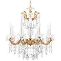 Schonbek La Scala 8 Light 25 inch French Gold Chandelier Ceiling Light in Clear Heritage
