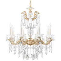 Schonbek 5073-27 Lascala 8 Light 25 inch Parchment Gold Chandelier Ceiling Light in Cast Parchment Gold La Scala Heritage