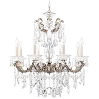 Schonbek 5073-48 Lascala 8 Light 25 inch Antique Silver Chandelier Ceiling Light in Cast Antique Silver La Scala Heritage