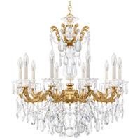 Schonbek La Scala 10 Light 28 inch Heirloom Gold Chandelier Ceiling Light in Clear Heritage