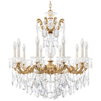 Schonbek 5074-26 La Scala 10 Light 28 inch French Gold Chandelier Ceiling Light in Clear Heritage