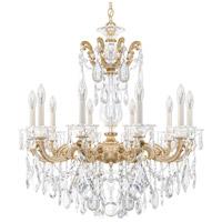 Schonbek La Scala 10 Light 28 inch Parchment Gold Chandelier Ceiling Light in Clear Heritage