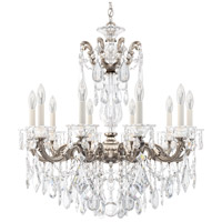 Schonbek 5074-48 Lascala 10 Light 28 inch Antique Silver Chandelier Ceiling Light in Cast Antique Silver La Scala Heritage