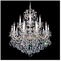 Schonbek 5075-26A Lascala 15 Light 28 inch French Gold Chandelier Ceiling Light in Cast French Gold, La Scala Spectra