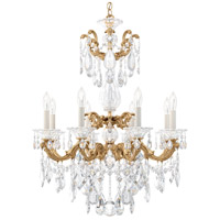 Schonbek 5007-26S La Scala 8 Light 25 inch French Gold Chandelier Ceiling Light in Swarovski