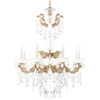Schonbek 5007-27S La Scala 8 Light 25 inch Parchment Gold Chandelier Ceiling Light in Swarovski