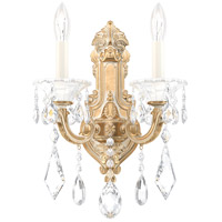 Schonbek 5070-27A La Scala 2 Light 7 inch Parchment Gold Wall Sconce Wall Light in Spectra
