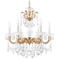 Schonbek 5072-26A La Scala 6 Light 23 inch French Gold Chandelier Ceiling Light in Spectra